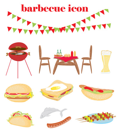 Barbecue Party - set of icons