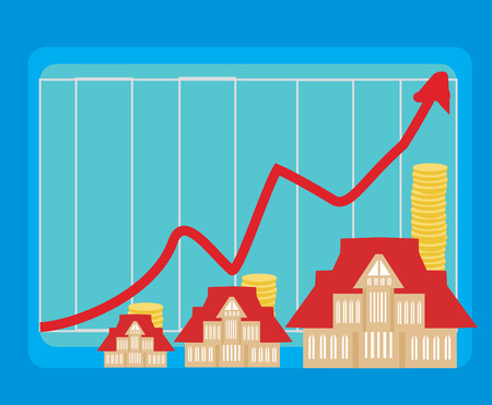 house prices: houseing price go up