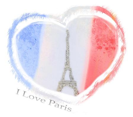 i love paris: I Love Paris design Stock Photo