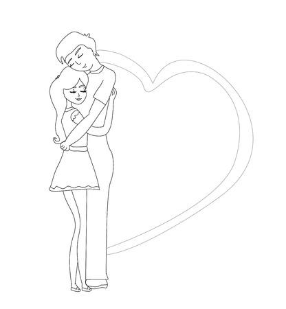 romantic: romantic couple hugging