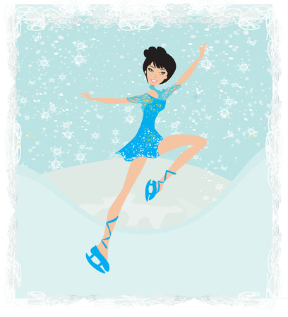 flexible business: Beautiful ice skater