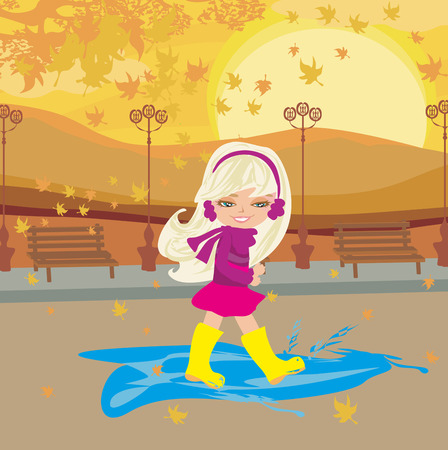ear muffs: fun in the autumn day Illustration