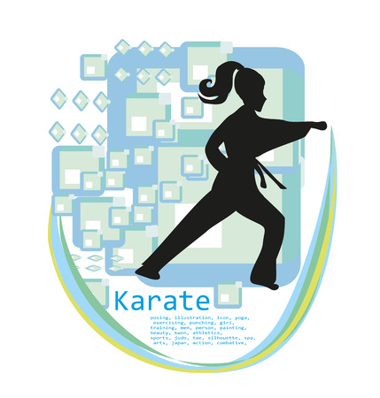 sport girl: Karate girl design