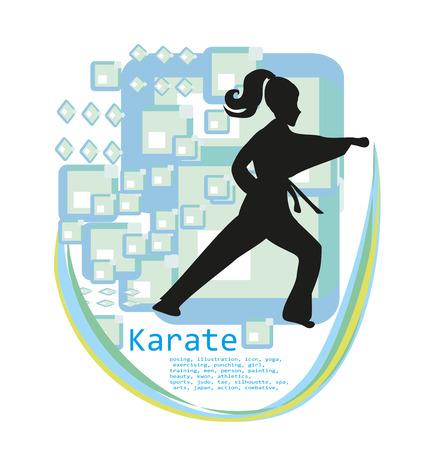 strong girl: Karate girl design