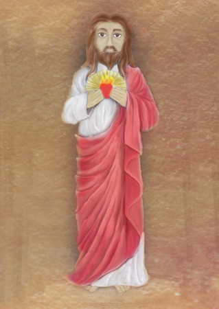 sacred heart: Sacred Heart of Jesus illustration