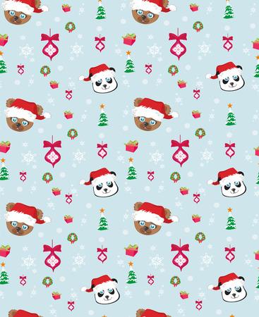 osos navide�os: Patr�n de Navidad con los osos de peluche