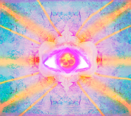 tantra: illustration of a third eye mystical sign Stock Photo