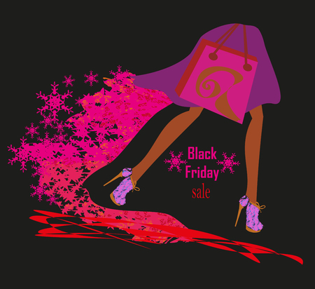 clothing stores: Black Friday card