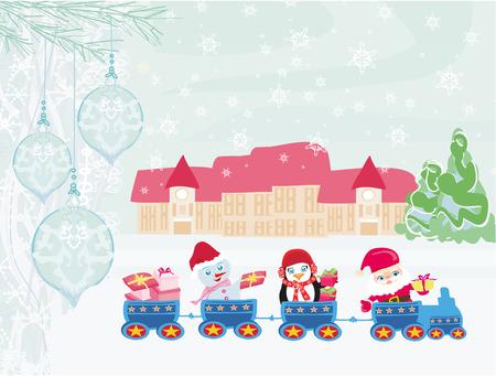 christmas train: Santa Christmas Train