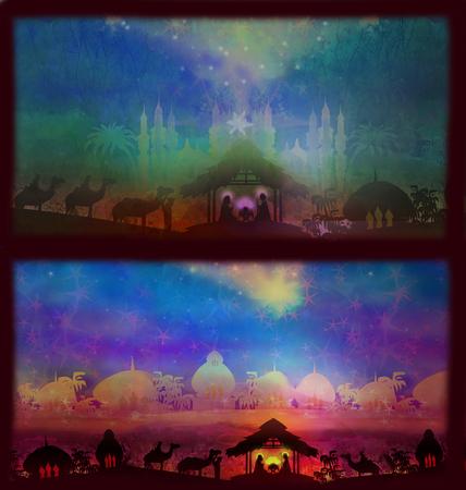 bethlehem: Two Christmas banners - Star of Bethlehem