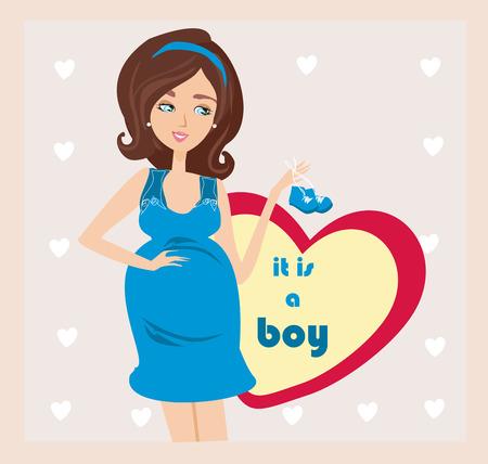 its a boy: Its A boy! - pregnant woman card