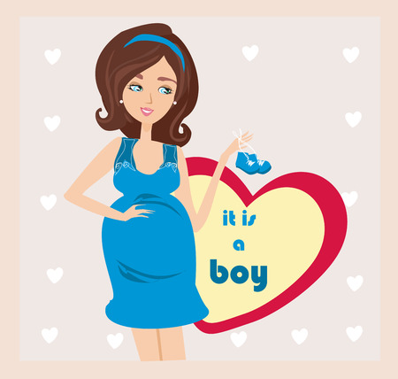 Its A boy! - pregnant woman card