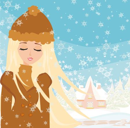 girl: winter girl