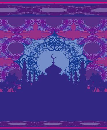 ramadan kareem festival card