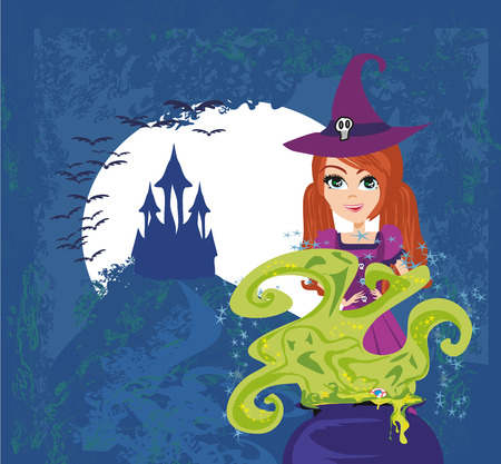 palatable: Halloween witch preparing potion