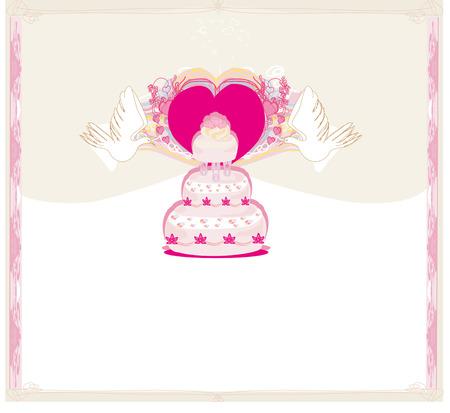wedding cake: wedding cake card design