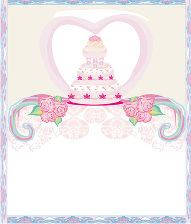 wedding cake: wedding cake card design