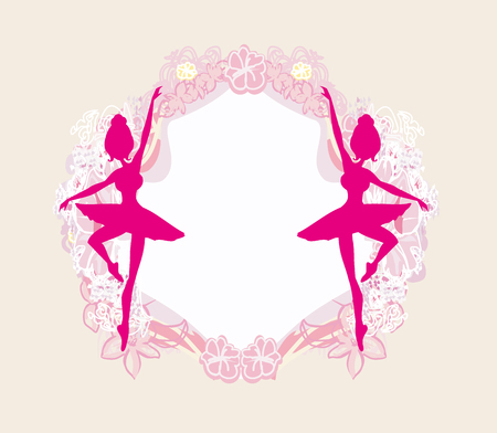 vintage fashion: Beautiful ballerina - vintage frame