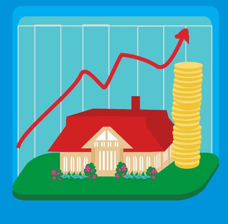 unstable: unstable housing market Illustration