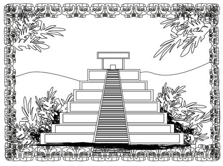 peruvian ethnicity: Mayan Pyramid, Chichen-Itza, Mexico