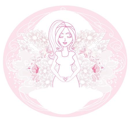 awaiting: pregnant woman card
