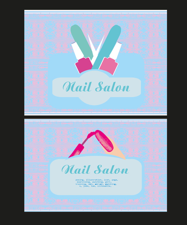 nail salon: Nail Salon design of business cards