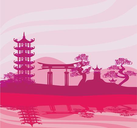 chinese pagoda: Chinese landscape