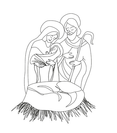 holy family: birth of Jesus
