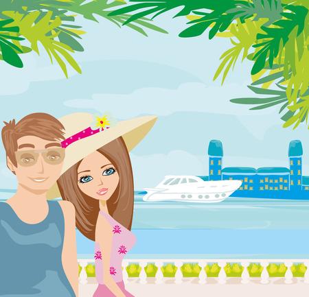 pareja de vacaciones