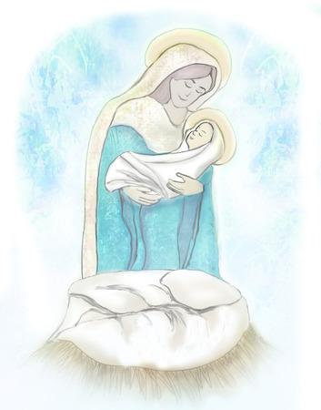 madonna: Madonna and child Jesus