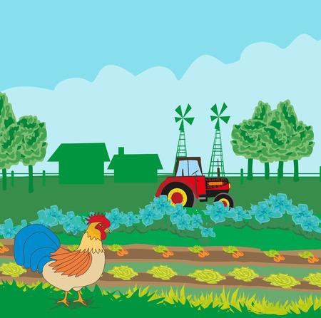 roster: rural landscape with roster