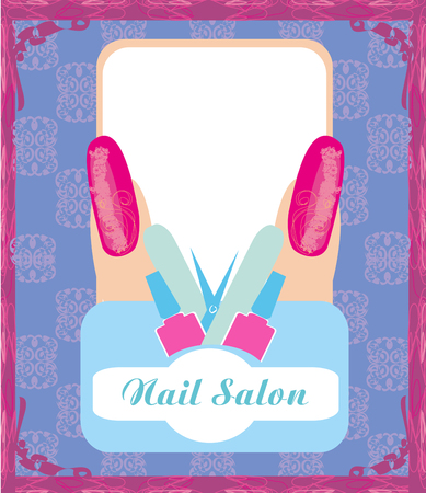nail salon: Nail Salon design Illustration