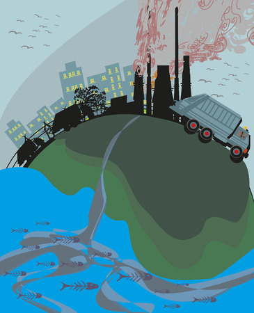 poison sea transport: polluted cities