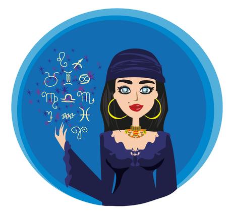 The Fortuneteller Illustration