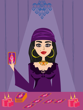clairvoyant: The Fortuneteller Illustration