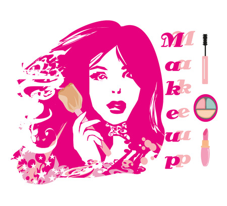 abstract portrait: Make-up girl - abstract portrait