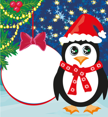Penguin greeting card design