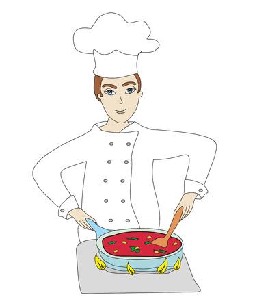 chef cooks
