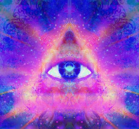 illustratie van een derde oog mystieke teken Stockfoto