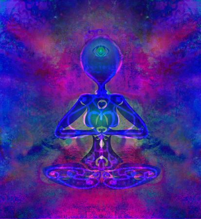 third eye: Woman with third eye, psychic supernatural senses
