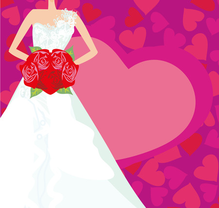 Abstract Beautiful bride card