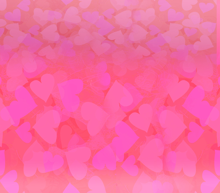 corazon: Valentine Hearts Abstract pink Background.