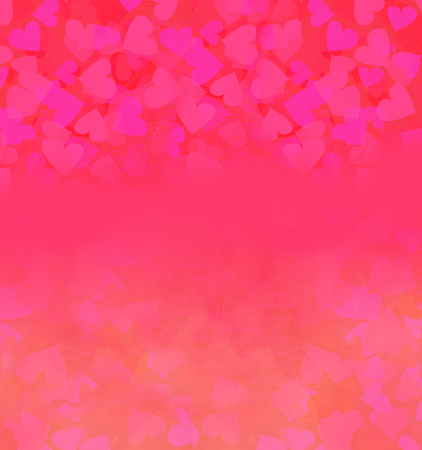 Valentine Hearts Abstract Background