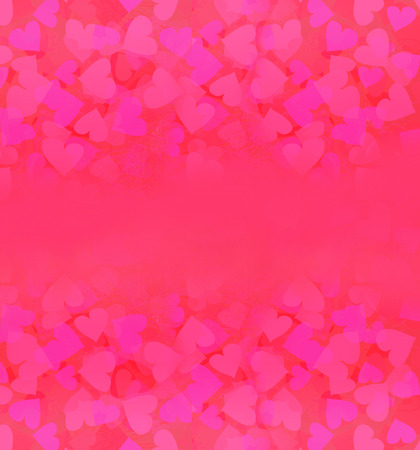 Valentine Hearts Abstract pink Background.