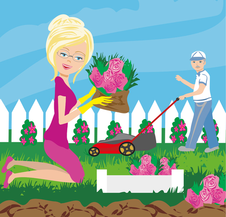Garden work Illustration