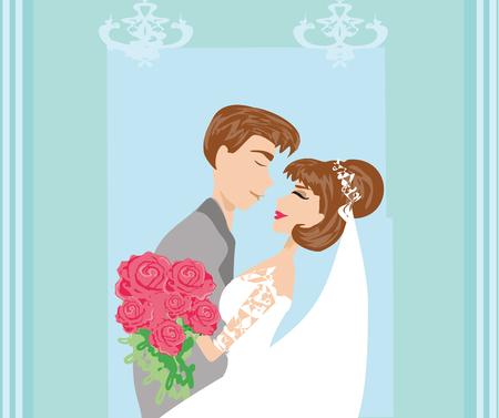 couple romantique de mariage