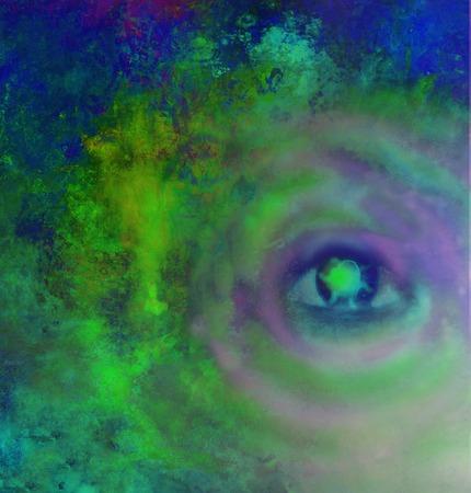 chakra energy: Illustration of a third eye mystical sign