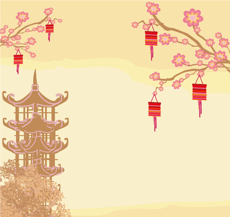chinese new year card: Mid-Autumn Festival for Chinese New Year card