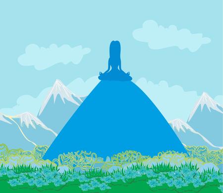 joga: Joga on mountain.