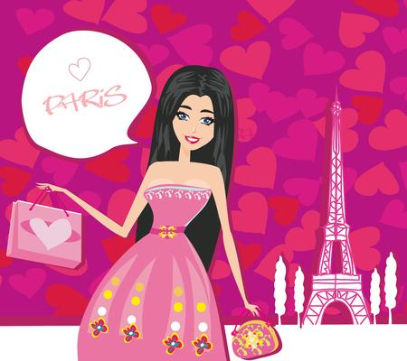 Beautiful women Shopping in Paris